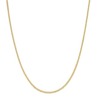 Fremada 14k Yellow Gold 1.4-mm Square Wheat 18-inch Chain