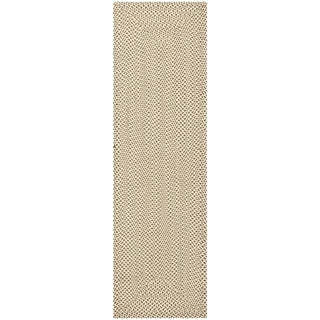 Safavieh Reversible Braided Beige/ Brown Cotton Rug (2'3 x 6')