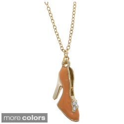 NEXTE Jewelry Goldtone In The City Fashion High Heel Pendant Necklace