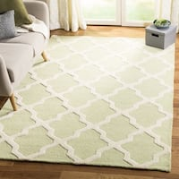 Safavieh Handmade Moroccan Cambridge Light Green/ Ivory Wool Rug - 11' x 15'