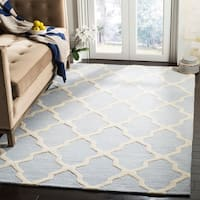 Safavieh Handmade Moroccan Cambridge Light Blue/ Ivory Wool Rug - 10' x 14'