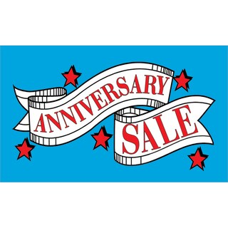 Stars Anniversary Sale Vinyl Advertising Sign