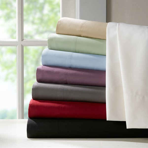 Madison Park Essentials Micro Splendor Solid Sheet Set
