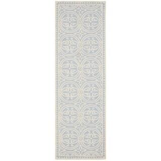 Safavieh Handmade Cambridge Moroccan Light Blue/ Ivory Rug (2'6 x 22')