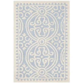 Safavieh Handmade Cambridge Moroccan Light Blue/ Ivory Rug (2'6 x 4')