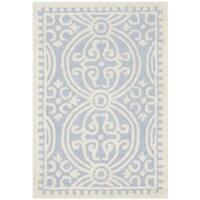 Safavieh Handmade Cambridge Moroccan Light Blue/ Ivory Rug - 2'6 x 4'