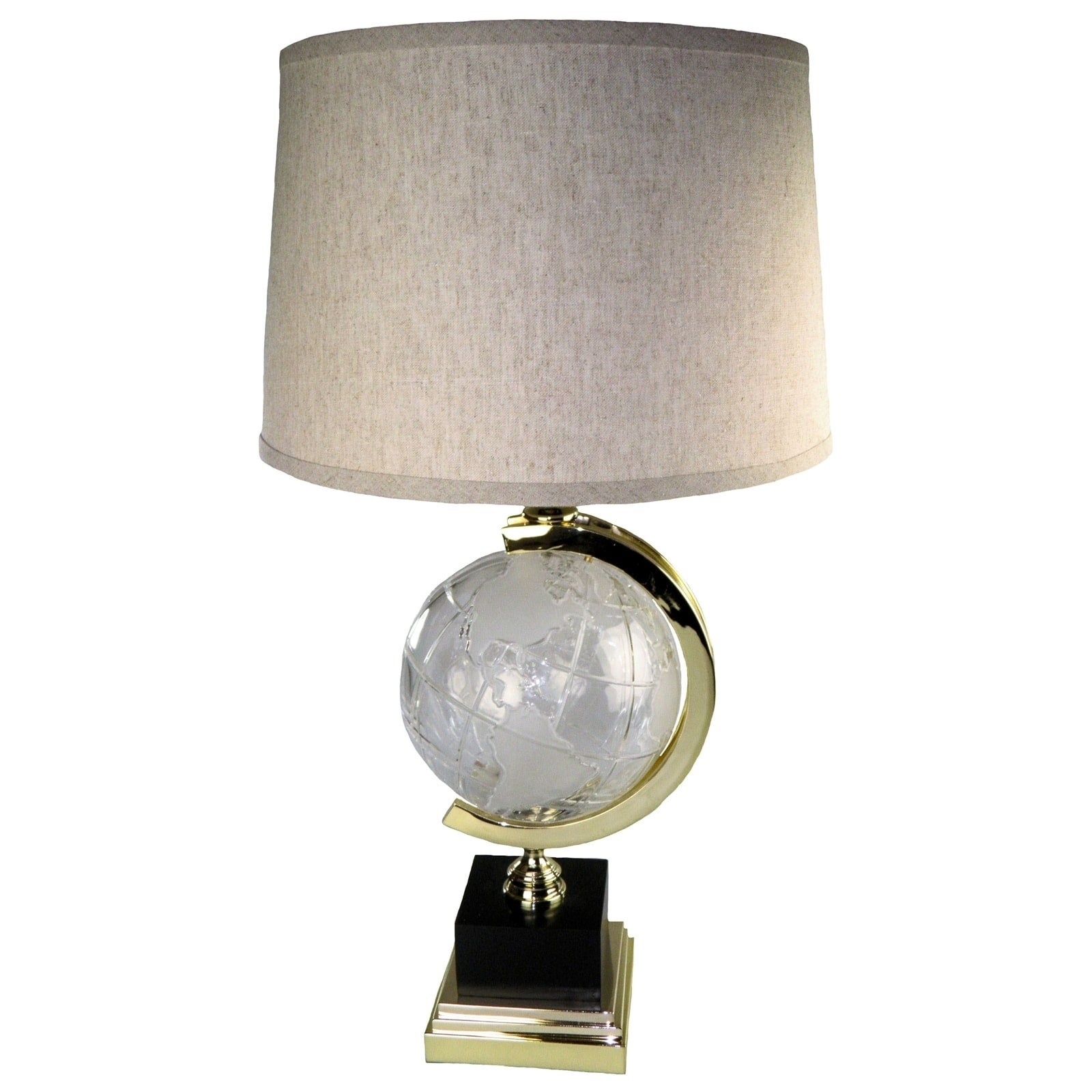 JT LIGHTING Globe Crystal Table Lamp (Crystal Globe Lamp)...
