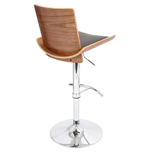 vittorio midcentury modern wood adjustable barstool free shipping today