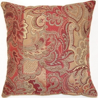 Cambridge Crimson 17-inch Throw Pillows (Set of 2)