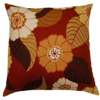 Flower Power Tomato 26-inch Throw Pillow