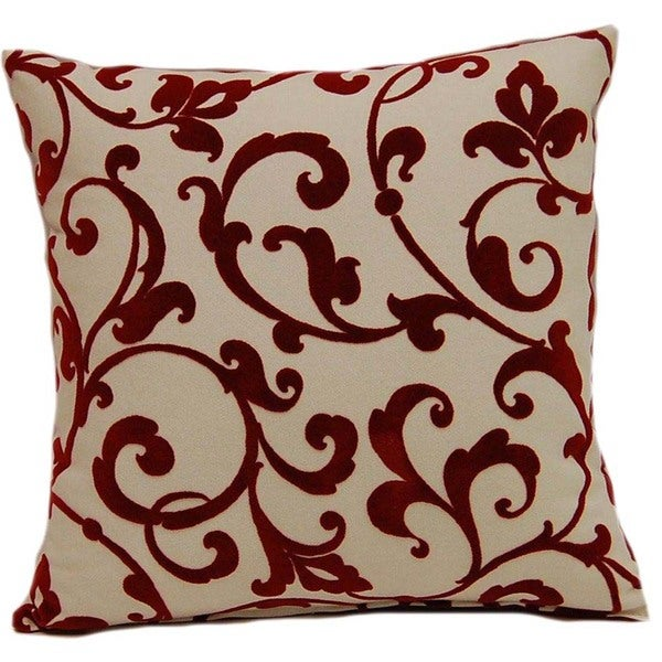 Jared Scarlet 17-inch Throw Pillows (Set of 2)