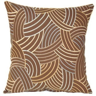 Newton Chocolate 17-inch Throw Pillows (Set of 2)