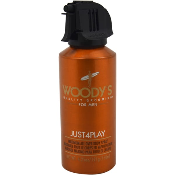 Woody's Just4Play Men's Maximum All Over Body Spray