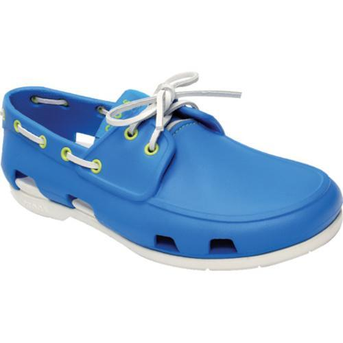 a71af897d9 Shop Men's Crocs Beach Line Boat Shoe Ocean/White - Free Shipping Today -  Overstock - 8052626