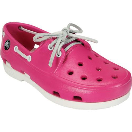 5d3ec30e7 Shop Girls  Crocs Beach Line Patent Boat Shoe Neon Magenta White - Free  Shipping On Orders Over  45 - Overstock - 8052647