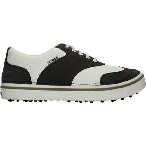 Men's Crocs Preston Golf Espresso/White