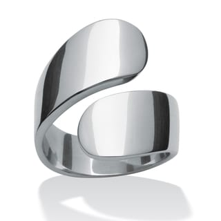 PalmBeach Stainless Steel Bypass Ring Tailored