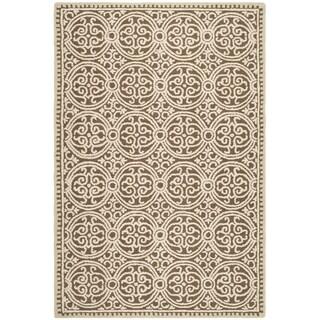 Safavieh Handmade Moroccan Cambridge Tan Wool Rug (10' x 14')