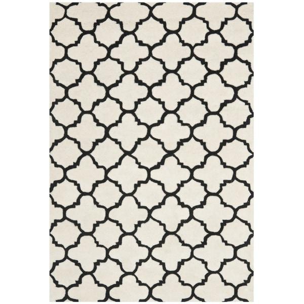 Safavieh Handmade Moroccan Chatham Ivory/ Black Wool Rug - 8'9 x 12'
