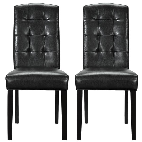 Set of 2 Black Vinyl Perdure Dining Chair Free Shipping  : Set of 2 Black Vinyl Perdure Dining Chair bff9894d 1f4e 4f4b b972 8b40e7b65895600 from www.overstock.com size 600 x 600 jpeg 41kB