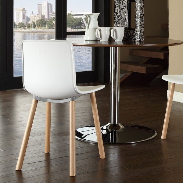 Sprung White Plastic Modern Dining Chair