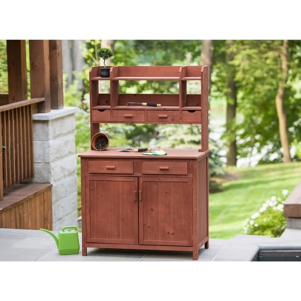 Shop Potting Bench Storage Free Shipping Today