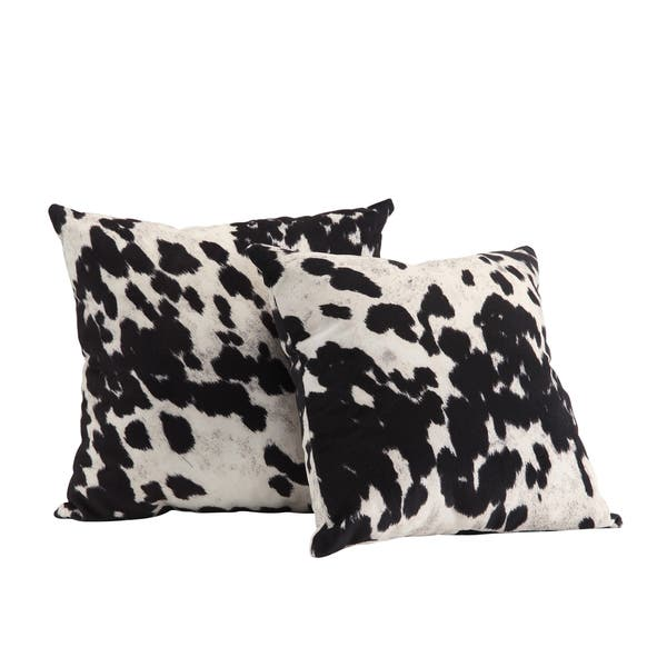 Faux Cow Hide Print Accent Pillows Set Of 2 By Inspire Q Bold Overstock 8057997