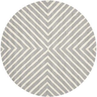 Safavieh Handmade Moroccan Cambridge Silver/ Ivory Wool Rug (8' x 8' Round)