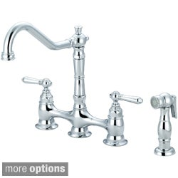 Pioneer Americana Series Two-handle Bridge Kitchen Faucet with Sprayer