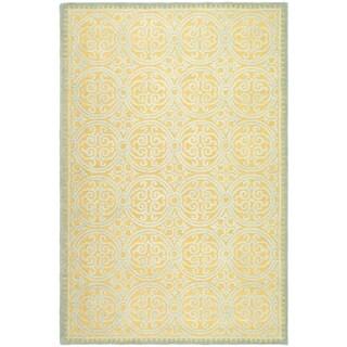 Safavieh Handmade Moroccan Cambridge Blue/ Gold Wool Rug (10' x 14')