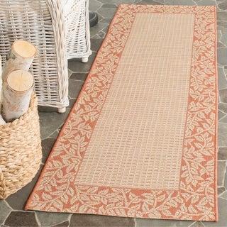 Safavieh Courtyard Natural/ Terracotta Indoor/ Outdoor Rug (2' 4 x 14')