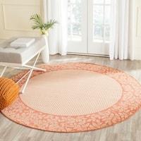 Safavieh Courtyard Natural/ Terracotta Indoor/ Outdoor Rug (7' 10 Round)