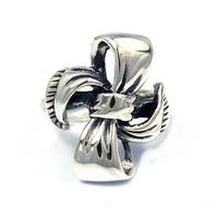 Handmade Sterling Silver Sweet Ribbon or Bow Tie Knot Ring (Thailand)
