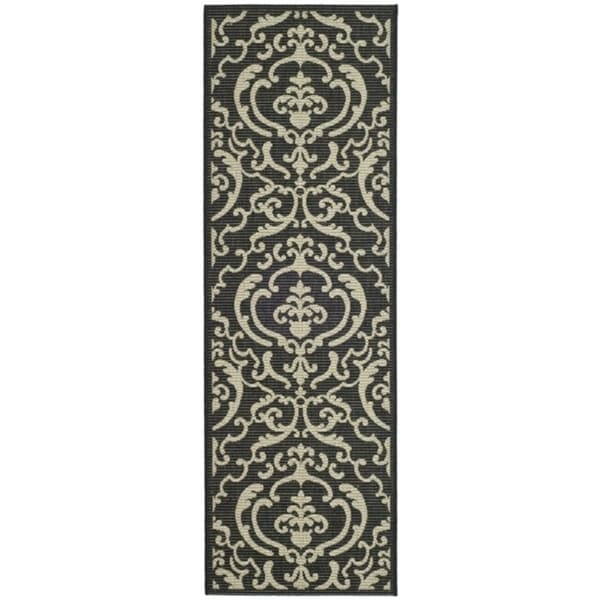 Shop Safavieh Bimini Damask Black Sand Indoor Outdoor