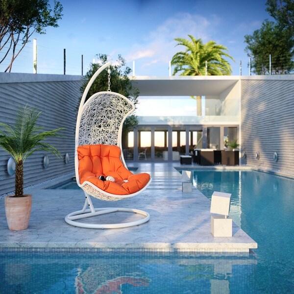'Endow Rattan' Outdoor Wicker Patio Swing Chair