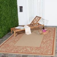 Safavieh Paradise Natural/ Terracotta Indoor/ Outdoor Rug - 4' x 5'7