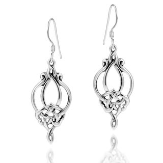 Handmade Sterling Silver Gorgeous Celtic Knot Drop Earrings (Thailand)
