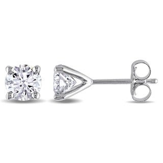Miadora Signature Collection 14k White or Yellow Gold 1ct TDW Certified Diamond Stud Earrings