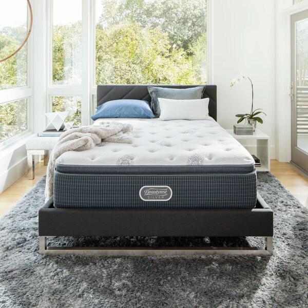 Beautyrest Silver Maddyn Luxury Firm Pillow Top California King-size Mattress Set