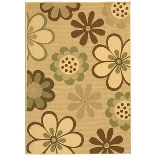 Shop Safavieh Courtyard Flowers Natural Olive Green