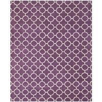 Safavieh Handmade Moroccan Chatham Purple/ Ivory Wool Rug - 8'9 x 12'