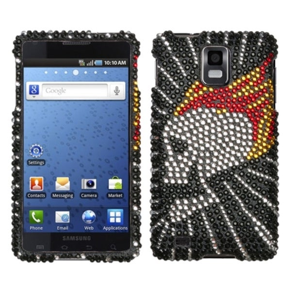INSTEN Flame Skull Diamante Phone Case Cover for Samsung I997 Infuse 4G