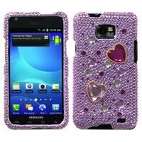 INSTEN Love Crash Diamante Phone Case Cover for Samsung I777 Galaxy S II