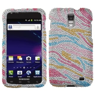 INSTEN Zebra Diamante Phone Case Cover for Samsung I727 Galaxy S2 Skyrocket