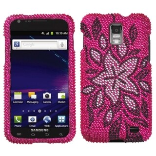 INSTEN Flowers Diamante Phone Case Cover for Samsung I727 Galaxy S2 Skyrocket