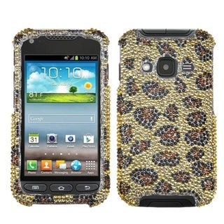 INSTEN Leopard/ Camel Diamante Phone Case Cover for Samsung I547 Galaxy Rugby Pro