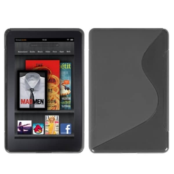 INSTEN Smoke S-shape Candy Skin Phone Case Cover for Amazon Kindle Fire