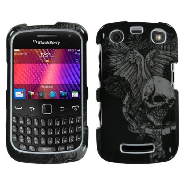 INSTEN Skull Wing Phone Case Cover for Blackberry Curve 9360/ 9350/ 9370