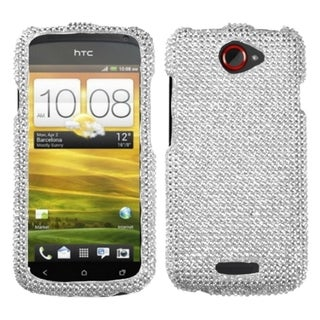 INSTEN Silver Diamante Phone Case Cover for HTC One S