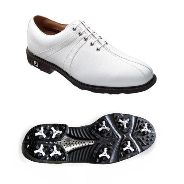 FootJoy Men's Icon Saddle White Golf Shoes